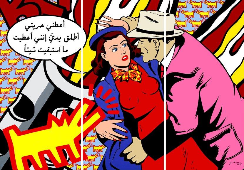 Marwan chamaa, Art, Gallery, Opera, Lebanese, Artist, Comic, Lichtenstein, Exhibition, Marwan chamaa dubai, Marwan chamaa exhibition, Roy Lichtenstein dubai